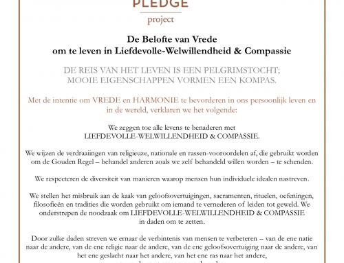 Peace Pledge Project; leven vanuit liefdevolle vriendelijkheid en compassie